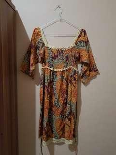 Dress - Terusan - Cokelat - Etnic