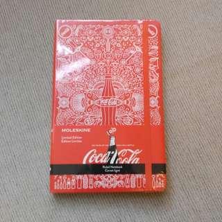 Moleskine coca cola notebook brand new 薄