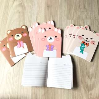 Cute Notebooks door gifts birthday party set