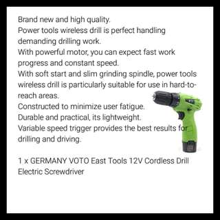 Maxgear germany 12V cordless screwdriver with a Bits Set