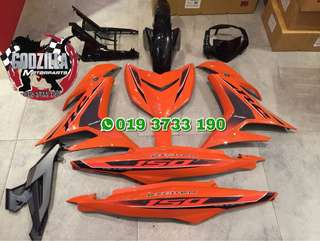 COVERSET Y15ZR YAMAHA EXCITER RC 150 ORANGE 2018