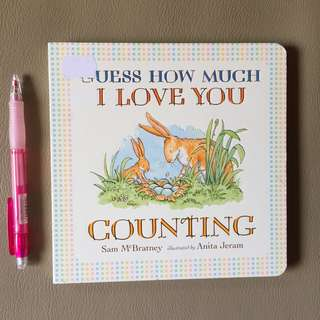 """Guess How Much I Love You """"Counting"""" Board Books for Children"""