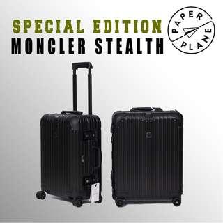 【PAPERPLANE】特別版 l RIMOWA X MONCLER Stealth 924.90.044/5 登機箱 行李箱 旅遊 旅行