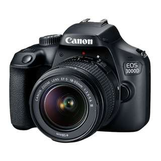 Canon EOS 3000D Kit (EF-S 18-55 IS). Free 32gb memory card and Bag. 1 year Canon Malaysia Warranty