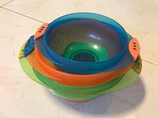 Baby Munchkin feeding bowl (3 in 1 set)