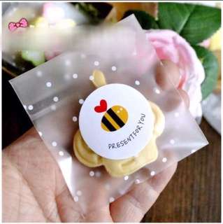 24 pcs Present For You Sealing Sticker Label Seal Cookie Baking Labels Stickers Kraft Gift Packaging