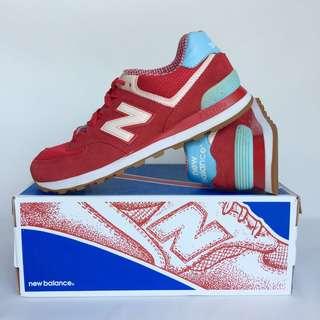 New Balance 574 WL574SPW Sneakers Sepatu Olahraga Jogging Running Shoes Merah