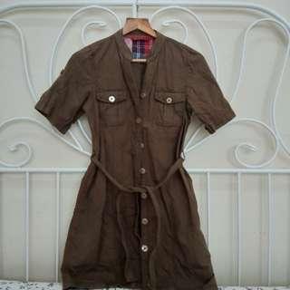 Short Sleeve Trench Coat
