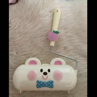 日本Swimmer 白色熊仔滾筒黏毛