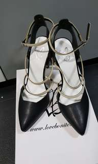 Brandnew Love Bonito Black Covered heels #easter20