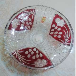 Anna Hutte Vintage Crystal plate - German made
