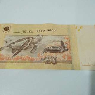 RM20 used with good condition