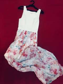 Ever New - 2 in 1 Rose Print Floral Maxi Dress