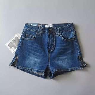 AA dark blue denim shorts