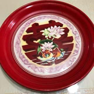 Vintage metal plates - various designs