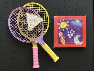 Toddlers' Badminton Set & Puzzles