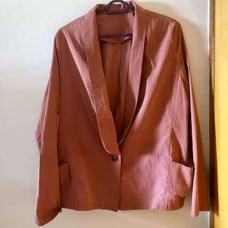 Suede Pink Blazer