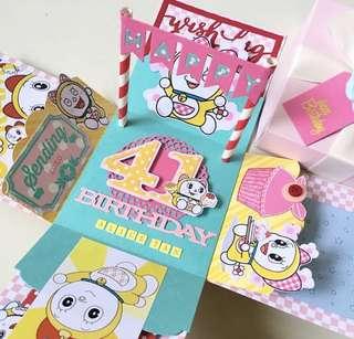 Dorami doreamon Explosion Boxcard handmade