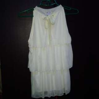 Off white chiffon top