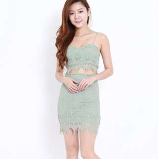 (PO) Green Lace 2pcs Set
