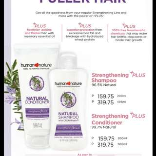 human nature strengthening plus shampoo
