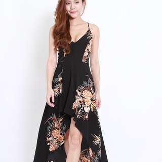 (PO) Royale Lace Back Hi-Lo Maxi