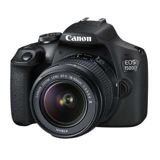 Canon EOS 1500D Kit (EF-S 18-55 IS). 1+2 years Canon Marketing Malaysia. Free 32gb Memory Card and Bag