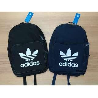 限時九折 Adidas 後背包 Originals Trefoil Backpack BK6723 BK6724 黑白 深藍