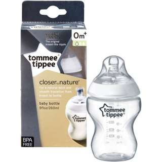 Tommee Tippee Closer to Nature Bottle Infant Newborn Starter 9 Ounce 260ml