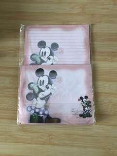 """Mickey + Minnie"" 信箋+信封"