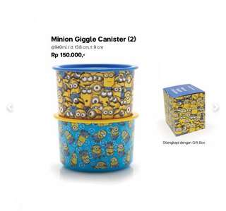 minion giggle canister tupperware