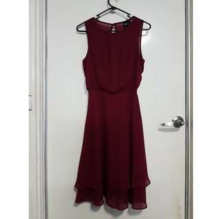 Ox Blood Red Cocktail Dress