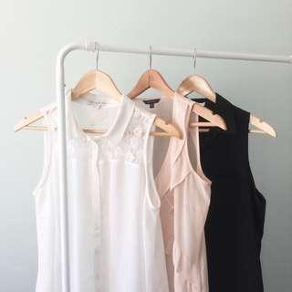 Sleeveless blouses