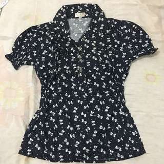 Blouse hitam black