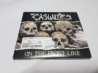 THE CASUALTIES - ON THE FRONT LINE CD (STREET PUNK BAND)
