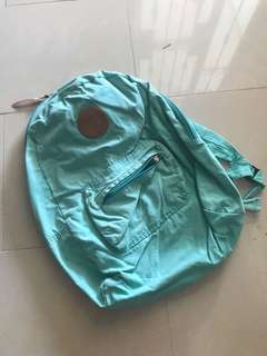 Preloved Turquoise green cotton on bag