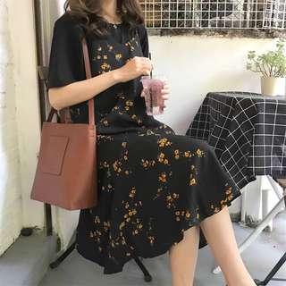 [PO] Two-piece Midi Dress Set