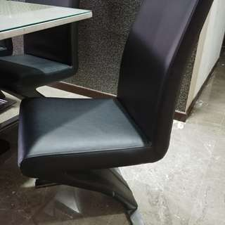 Free 3 Pieces of Hommage PU Dining Chairs