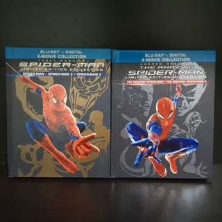 Spider-Man and the Amazing Spider-man Limited Edition Bluray digibook set