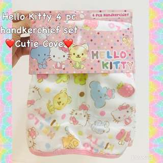*NEW IN IN SG* Hello Kitty 4 pc handkerchief set
