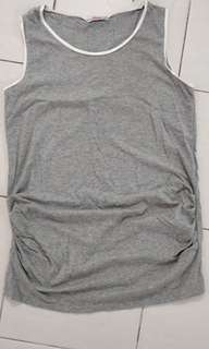 Pregnany lady grey top #julypayday