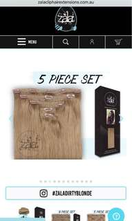 Zala 20inch dirty blonde clip in hair extensions