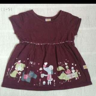 dress maroon bayi