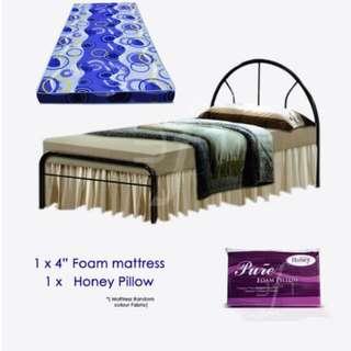 Offer Metal BED + Mattress Package