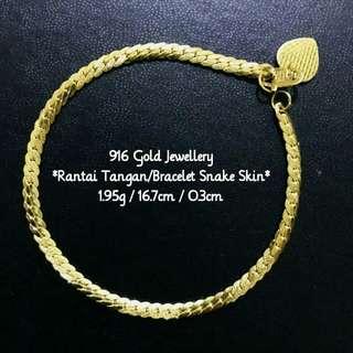 916 Göld Jëwëllëry - Bracelet/Rantai Tangan