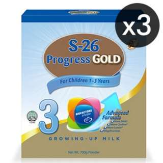 3x S-26 PROGRESS GOLD Pouch 700G