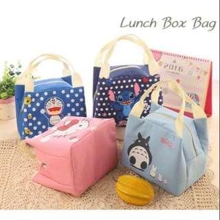 PIPO Lunch Box Bag Kitty Stitch Doraemon Totoro