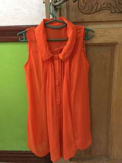 Orange sleeveless