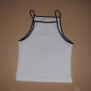 Halter crop top white