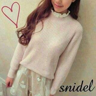 🚚 Snidel 日本正品針織粉色毛衣 lily brown jillstuart